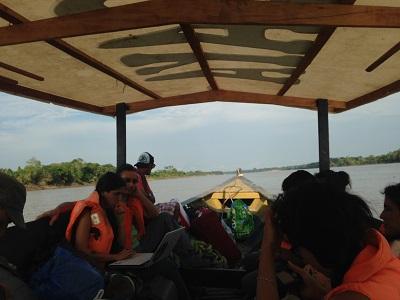 Un trajet paisible de deux heures sur El Rio Madre de Dios