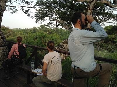 Moment d'obeservation pour mieux connaitre la faune de Taricaya